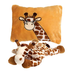 fiesta peek-a-boo plush giraffe pillow unzips