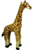 standing plush giraffe looking actually rise